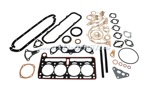 Set of engine gaskets with radial shaft seal rings