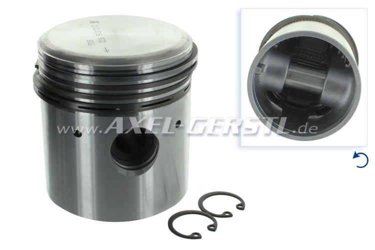 Piston 67.4 mm with piston rings and pins, std.