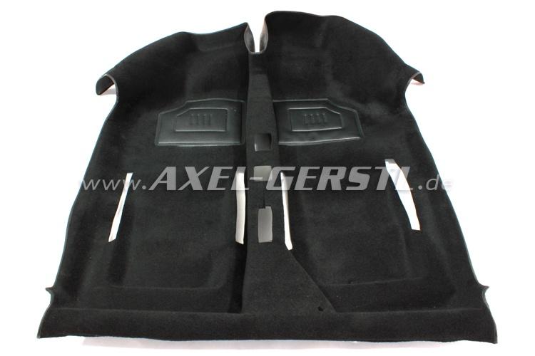 Moquette noire, avec deux protecteurs de talon, A-qualité
