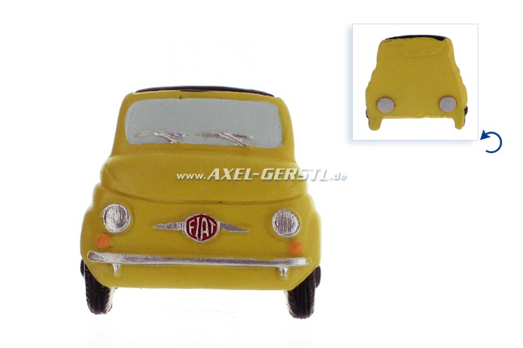 Magnet, motif Fiat 500 Front, yellow