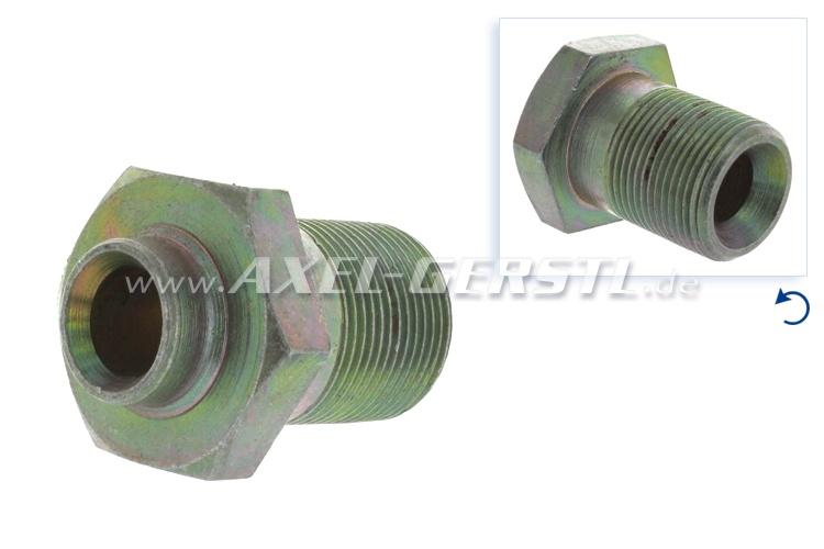 Nut/hollow screw for crankshaft