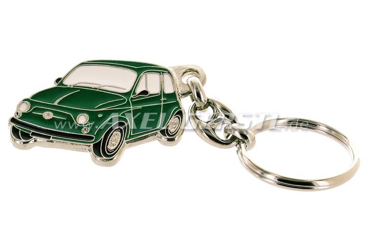Key fob Fiat 500, metal, green
