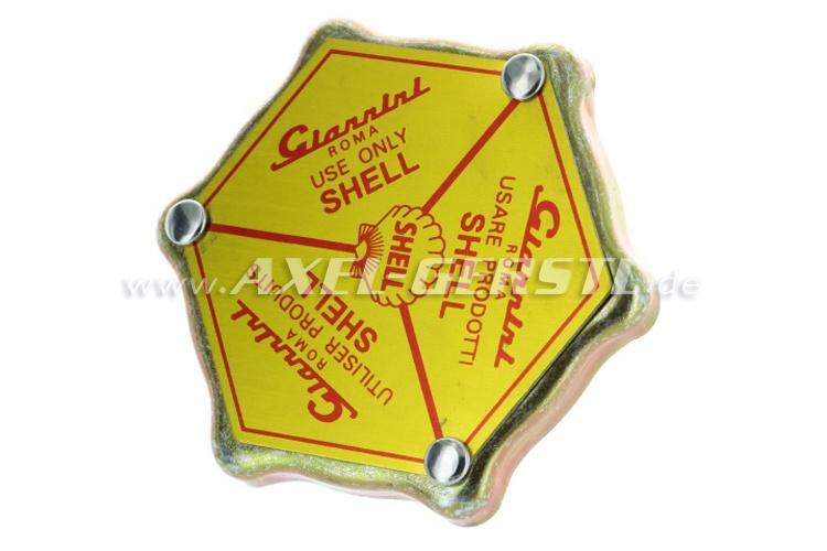 Lid f. oil filler nozzle Giannini Shell (aluminum v.cover)