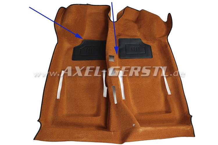 SoPo: Teppichboden ocker Schlinge, 2 Absatzschoner