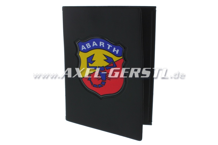 Document wallet with Abarth coat of arms