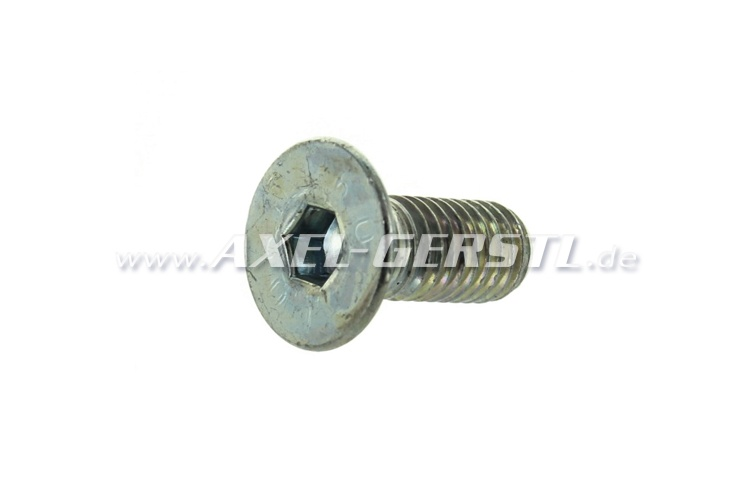 Screw for crankshaft bearing, countersunk head