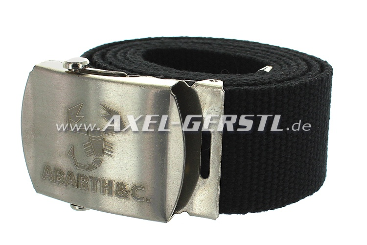 Belt (40 mm) with Abarth belt buckle, black