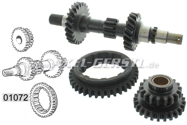 Getriebe-Reparatursatz, incl. Hauptwelle/1.-G.-Rad/RW-G.-Rad