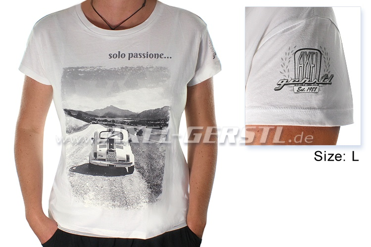 Female-T-shirt 30 Years of Axel Gerstl, Solo passione