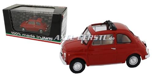 Auto modello BRUMM Fiat 500 F, 1:43, rosso/aperto