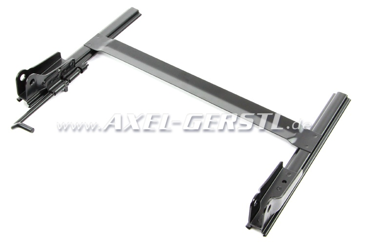 Seating frame base incl. rails and latching