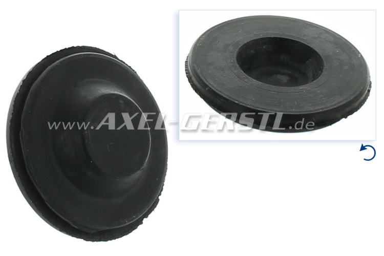 Rubber plug, roof pillar (bores for hardtop fixation screws)