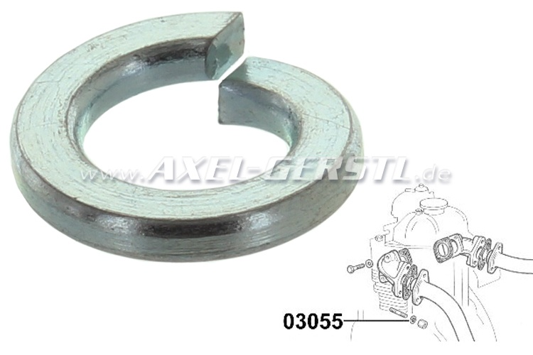 Spring-lock washer, M8 for screw of axle coupling etc.