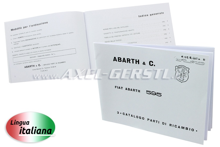 Spare parts catalogue, Abarth, copy (Italian)