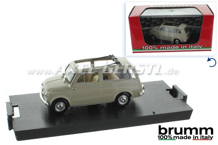 Model car Brumm Fiat 500 Giardiniera 1:43, beige
