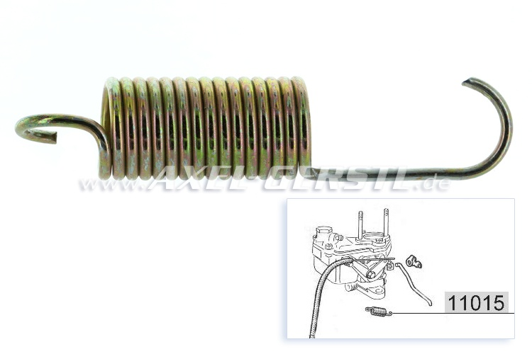 Throttle control cable/throttle linkage return spring