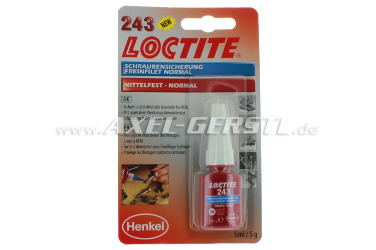 LOCTITE 243, screw locking, tube 5 ml