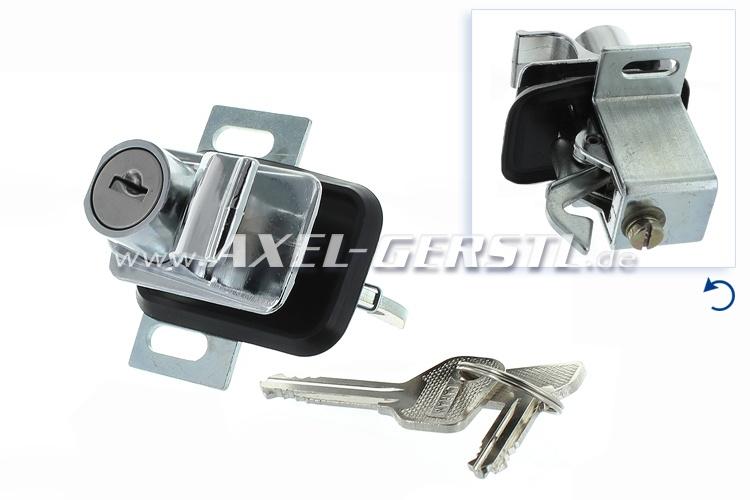 Heckklappenschloss neue Form/chrom Drücker inkl. 2 Schlüssel