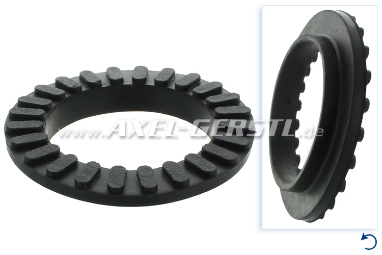 Rubber bearing for engine mounting (top)