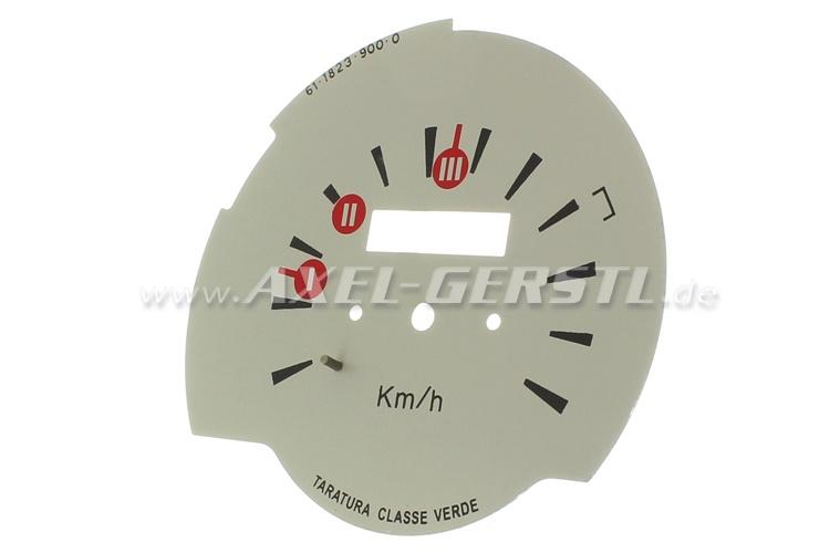 Speedometer sheet for original speedometer