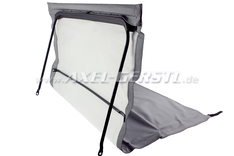 Convertible top w. front bow + middle stick, grey