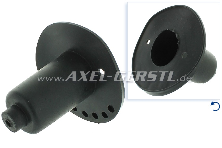 Rubber cover for turn signal, front