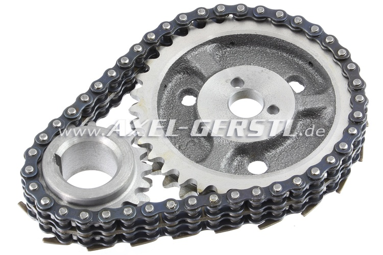 Timing Chain Gear Set W O Radial Shaft Seal And W O Gaskets Fiat 600 600d 770