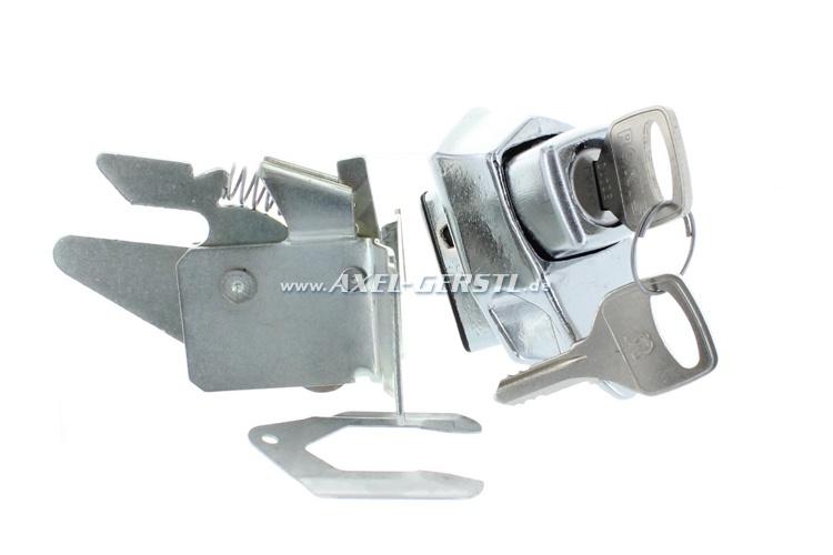 Engine cover lock, incl. 2 keys, chromed