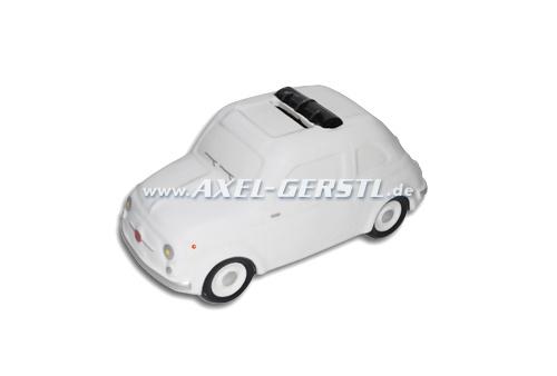 Salvadanaio Fiat 500 Modell ca. 1:18, bianco