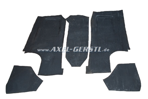 Set of rubber mats for floor, 5 pieces