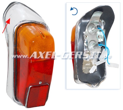 SoPo: Rückleuchte kpl. links (Spitz), Kunststoff