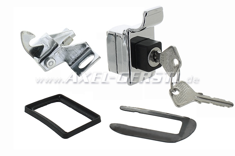 Tailgate lock new form in chrome/black with two keys