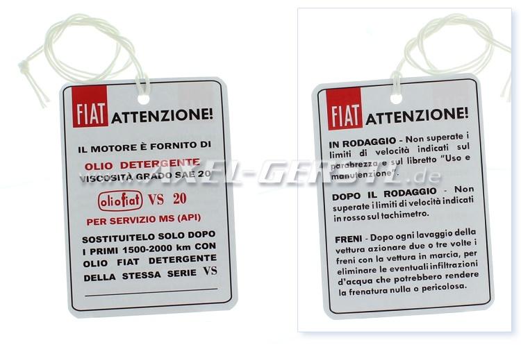 Sticker Set 6 Pieces Fiat 500 Flr
