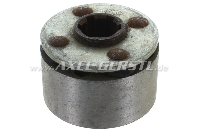 Axle coupling, coarse pitch, 6 teeth, type 2