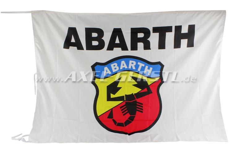 Flagge Abarth, Wappen & Schriftzug 100 x 140 cm