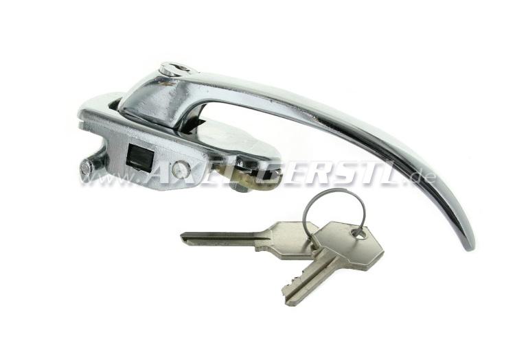 Maniglia e serratura cromata, sx completo con chiave