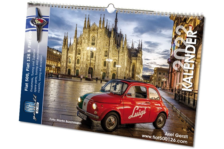 Fiat 500/126-Wandkalender 2021