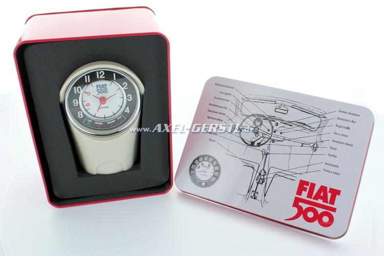 alarm clock tachometer box fiat 500 8 x 12 5 x 6 cm. Black Bedroom Furniture Sets. Home Design Ideas