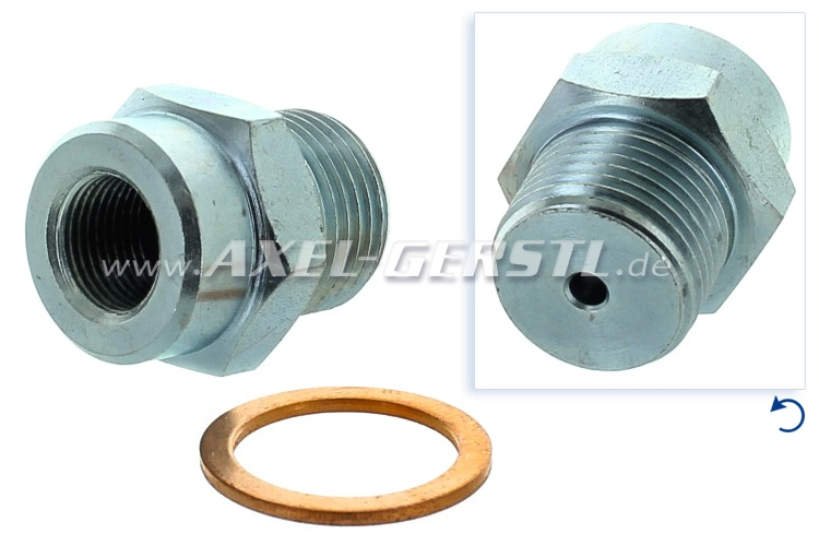Brake-hose adapter (coupling / fitting), 22 x 27