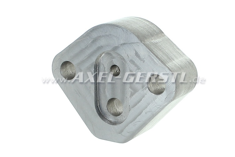 Aluminum base for fuel pump / 19,5 mm