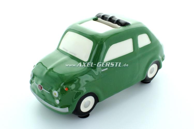 Salvadanaio Fiat 500 Modell ca. 1:24, verde