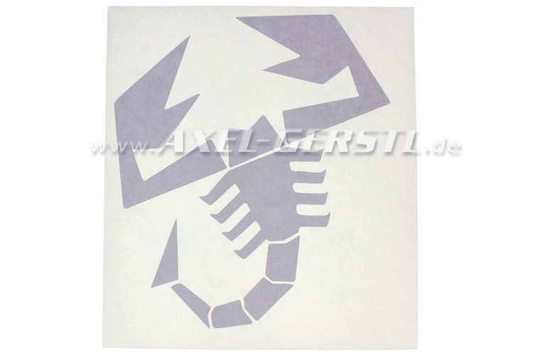 Sticker Abarth scorpion 200 x 213 mm, silvery