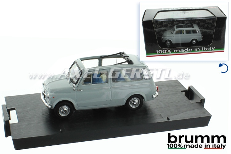 Model car Brumm Fiat 500 Giardiniera 1:43, grey