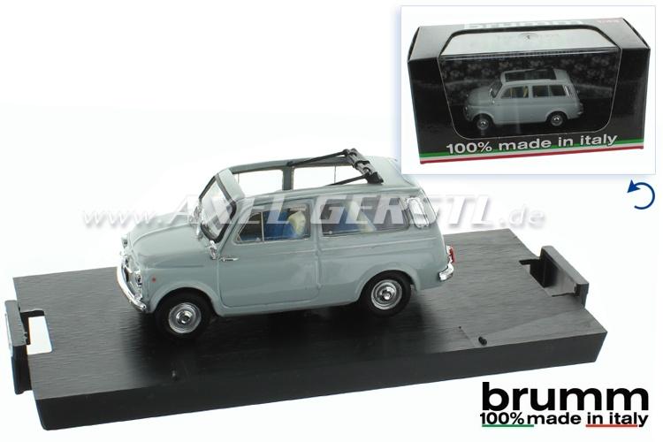 Modellauto Brumm Fiat 500 Giardiniera, 1:43; grau
