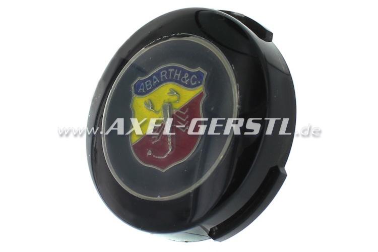 Abarth-Hupknopf-Taster incl. Button (Wappen auf schwarz)