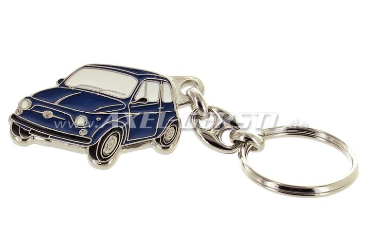 Key fob Fiat 500, metal, blue