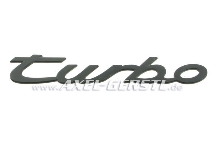 SoPo: Heckemblem / Schriftzug Porsche turbo, Kunststoff