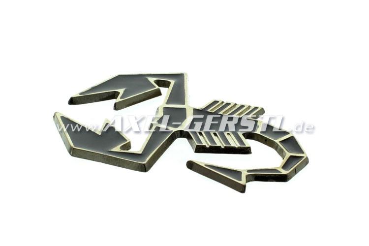 Emblème Abarth Scorpion, métal noir