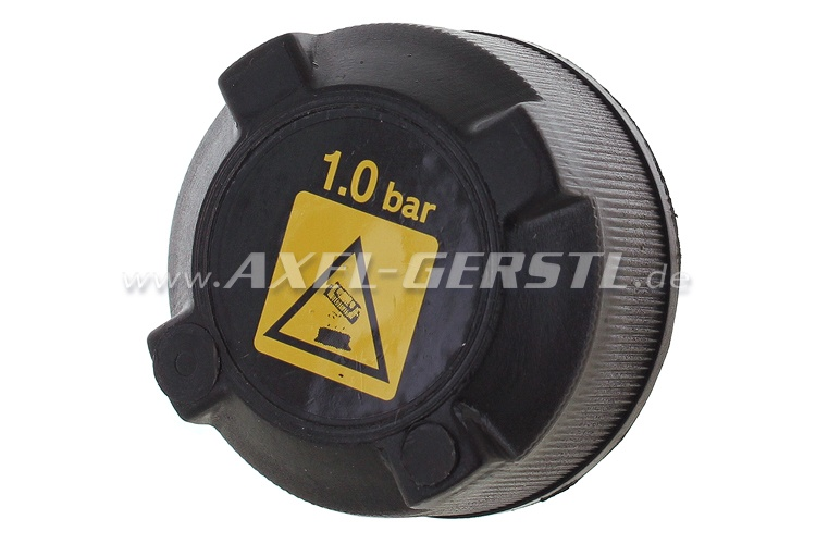 Lid for radiator recovery bottle neck