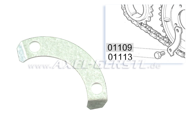 Safety plate for screw/timing sprocket